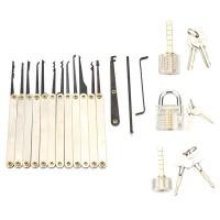 NFS 12pcs Unlocking Lock Pick Set with 3pcs Transparent Locks