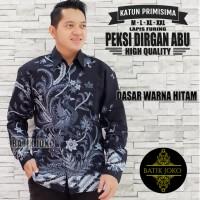 Peksi Dirgan Abu Kemeja Batik Pria Panjang Full Furing by Joko