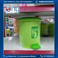 Tempat Sampah Injak Step On Bulat Plastik 10Lt Lion Star C11 C 11