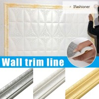 Wall Trim Line Skirting Border 3D Pattern Sticker Decor Self