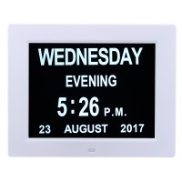 NFS 7 Inch LED Digital Calendar Day Clock Extra Large Time Day
