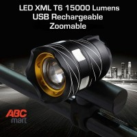Lampu Sepeda LED CREE XML T6 Zoom Recharge - Bike front Light