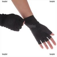 (FF) 1 Pasang Sarung Tangan Kompresi Arthritis Bahan Tembaga untuk