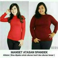 Baju Manset Mangset Kaos Inner Dalaman Tangan Panjang Bahan Lembut