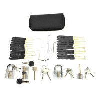 NFS DANIU 24pcs Single Hook Lock Pick Set + 5Pcs Transparent