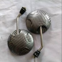 Spion bulat carbon karbon wtp batang crome scoopy beat vario 110 125