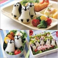 Cetakan Nasi Bento Makanan Onigiri Rice Mould Mold Penguin Lucu