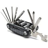Multifunctional 15 in 1 EDC Repair Tool Stainless Steel kunci Obeng .