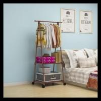 Termurah Mh X17 Triangle Stand Hanger Rak Buku Serbaguna Dengan 4 Roda