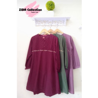 Tunik Model kancing ,Bahan cotton Toyobo kwalitas premium, size Jumbo