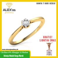 cincin berlian Mirac Solitare ring natural diamond emas 18k 7 hari vvs