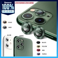 Ring Camera Tempered Glass iPhone 11 Pro / Max / 11 Baseus Alloy Lens - iPhone 11, Purple