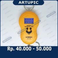 Timbangan Saku Gantung Digital Portable Electronic Scale LS01 LS-01 50