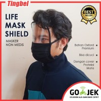 Masker Mika Kaca Hijab Kain Life Mask FaceShield Pelindung Hidung Mata