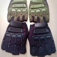 Sarung Tangan Outdoor Mpact Half Finger / Airsoft Polisi dll