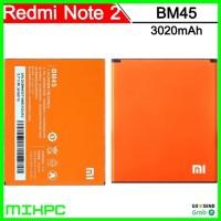 Baterai Xiaomi Redmi Note 2 3020mAh - BM45 (OEM) - Orange