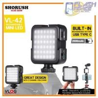 SHORUSH Video Lighting VL42 LED Built-In Battery for Smartphone/DSLR