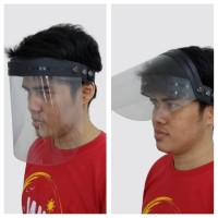 BT Pelindung Wajah face Shield bisa buka tutup pelindung muka