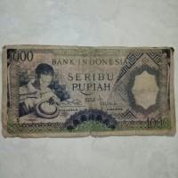 Uang kertas Kuno rp. 1000 tahun 1958