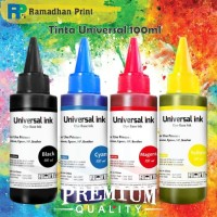 Tinta Universal Refill Cartridge Printer Epson HP Canon Brother 100ml - Hitam