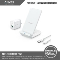 Anker PowerWave 7.5 Stand Wireless + QC 3.0 Charger Iphone Samsung