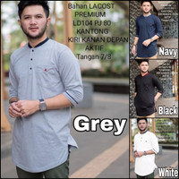 baju koko pria | pakaian lebaran muslim cowok | putih hitam navy abu