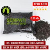 PAKAN BURUNG KENARI FINCH LOVEBIRD 250GR NIGER SEED
