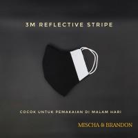 Masker Wajah + 3M Reflective. Katun 100%. 3 Lapis. Washable. (Type-I)