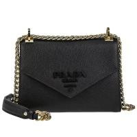 Tas Prada original - Prada Monochrome Saffiano Leather Bag cb