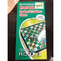 Portable Snake & Ladders Ular Tangga Mainan Board Game Anak