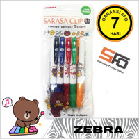 Pen Gel Zebra Sarasa 0.5mm isi 5 - Line Series