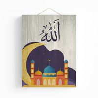 Poster Kaligrafi Islami Untuk Dekorasi Dinding Kamar Tidur 30x40cm