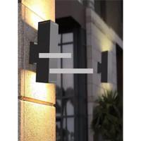 LAMPU DINDING MINIMALIS 2 ARAH OUTDOOR / LAMPU TAMAN DINDING HIAS