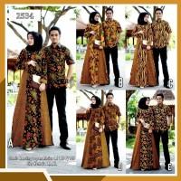 Batik Couple Modern Gamis Sogan 2534