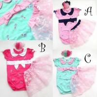 Baju Anak Bayi Perempuan Setelan Jumper Rok Anak Perempuan Tutu Bunga