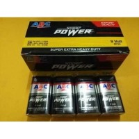 Battery Batere Batre ABC Super Power 9V / Baterai ABC Kotak 9V