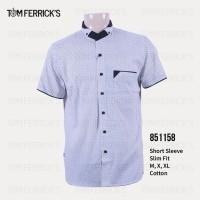 Tom Ferricks - Kemeja Lengan Pendek Pria 851158 - Putih Motif - M/L/XL