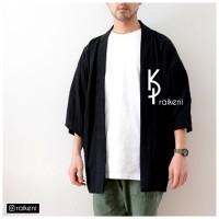 Kimono Pria Hitam | Outer Pria | Vest & Jaket Pria | Cardigan Pria