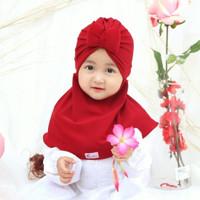 JILBAB ANAK ATINA - Usia 0-2 Tahun Hijab Bayi Balita Pita Kupu-Kupu