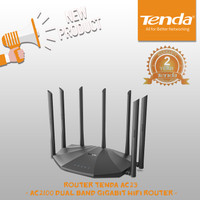 Tenda AC23 2.4GHz + 5GHz AC2100Mpps Nirkabel 7 Antena