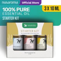Nusaroma Starter Kits Essential Oil - Paket isi 3 x 10ML