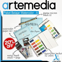 Paket Belajar Watercolor - A