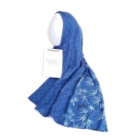 Pashmina Motif Alshati Blue - Emikoawa Scarf Syal Premium