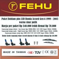 Paket bohlam plus LED Accord gen 6 1999 - 2003 warna sinar putih