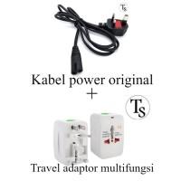 Kabel Power PS4 Slim dan Travel Adaptor - PS4 Fat - PS3 - PS2 Original