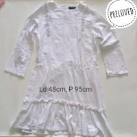 Preloved Dress wanita putih polos big size 03