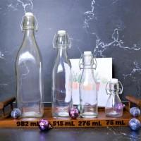 Bormioli Swing Kotak 250 mL | Botol Kaca 250 mL | Botol Kait