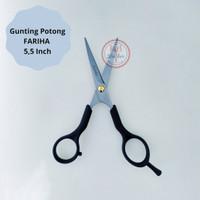 Gunting Potong, Penipis Rambut Fariha Plastik Premium ORI Harga Murah - Potong 5.5 Inch