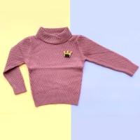 Baju Sweater Rajut Atasan Anak Perempuan Halus Import Real Picture
