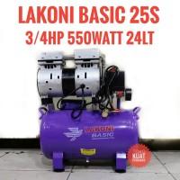 Lakoni kompresor silent oilless compressor Basic 25S 3/4HP 550w 24lt